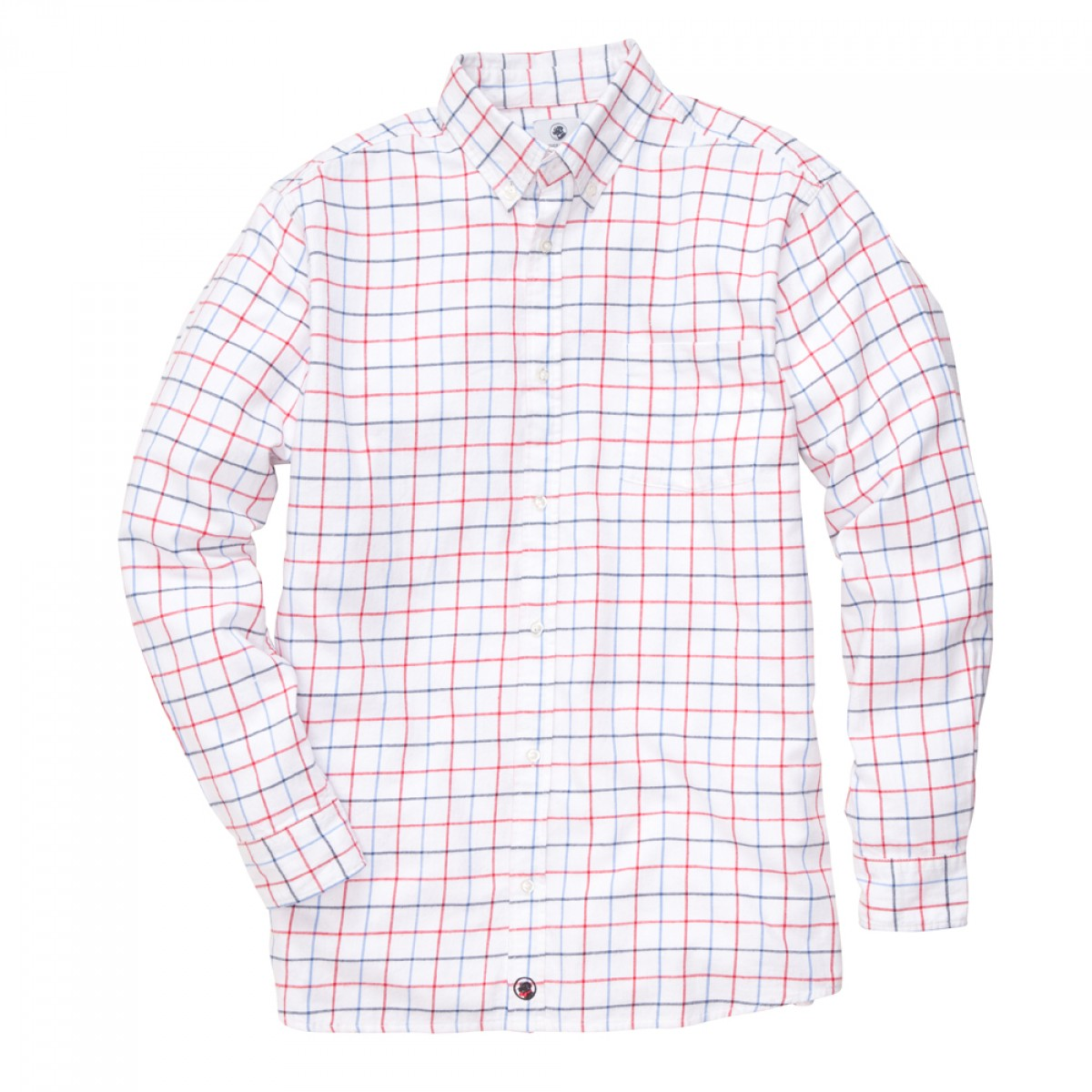 Tattersall Shirt - Red/White/Blue